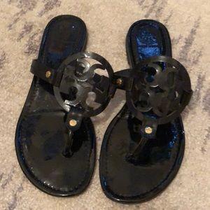 Patent Leather Black Tory Burch Flip Flops Size 9